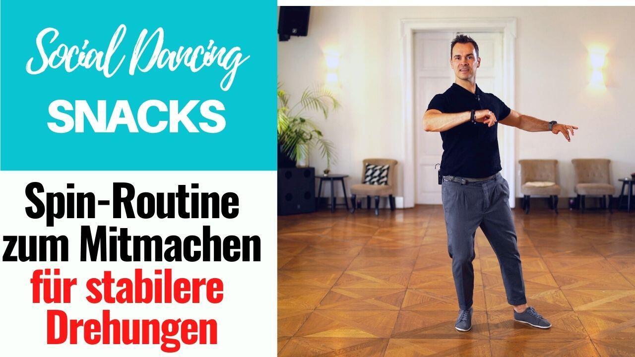 Photo of Spin-Routine mit Musik zum Mitmachen // Social Dancing Snacks // Tabata Dance Workout